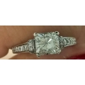 R#205 14k white gold engagement Ring (1.20ct total )  $2950.00